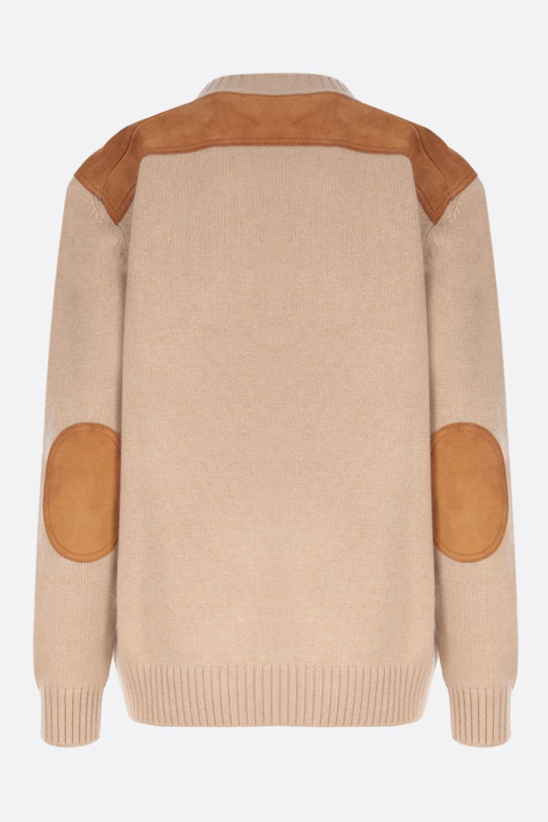 PRADA: cashmere pullover with suede inserts_2
