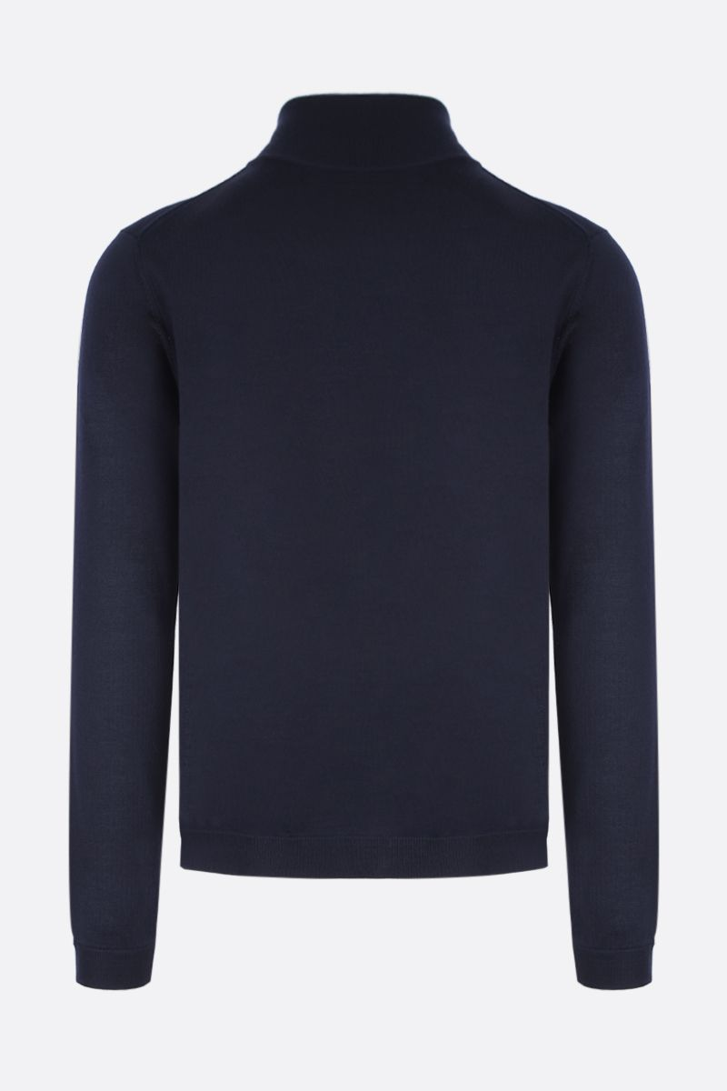 PRADA: combed wool full-zip pullover Color Blue_2