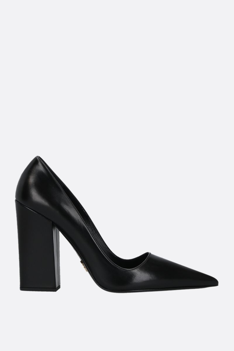 PRADA: Lux leather pumps Color Black_1