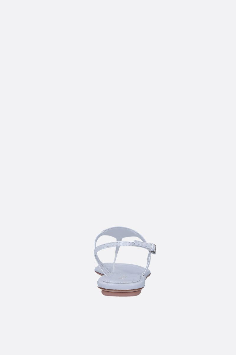 PRADA: patent leather thong sandals Color White_3
