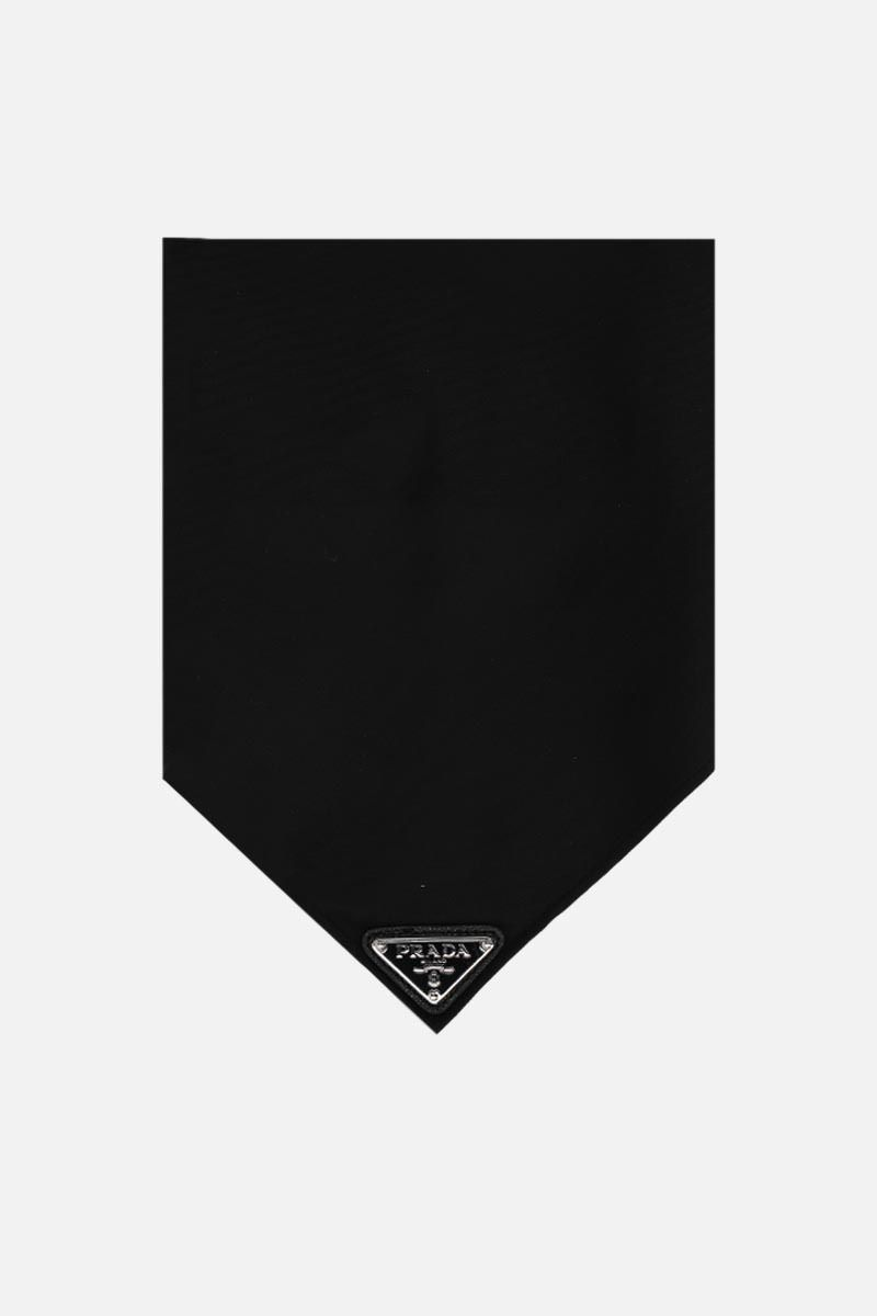 PRADA: nylon gabardine triangle foulard Color Black_1