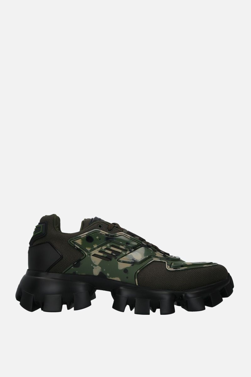 PRADA: Cloudbust Thunder sneakers in tech fabric and rubber Color Green_1