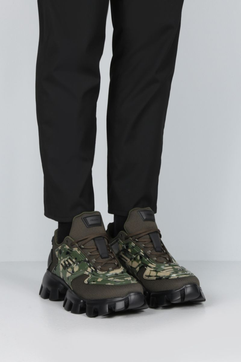 PRADA: Cloudbust Thunder sneakers in tech fabric and rubber Color Green_2