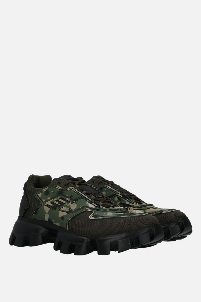 PRADA: Cloudbust Thunder sneakers in tech fabric and rubber Color Green_3