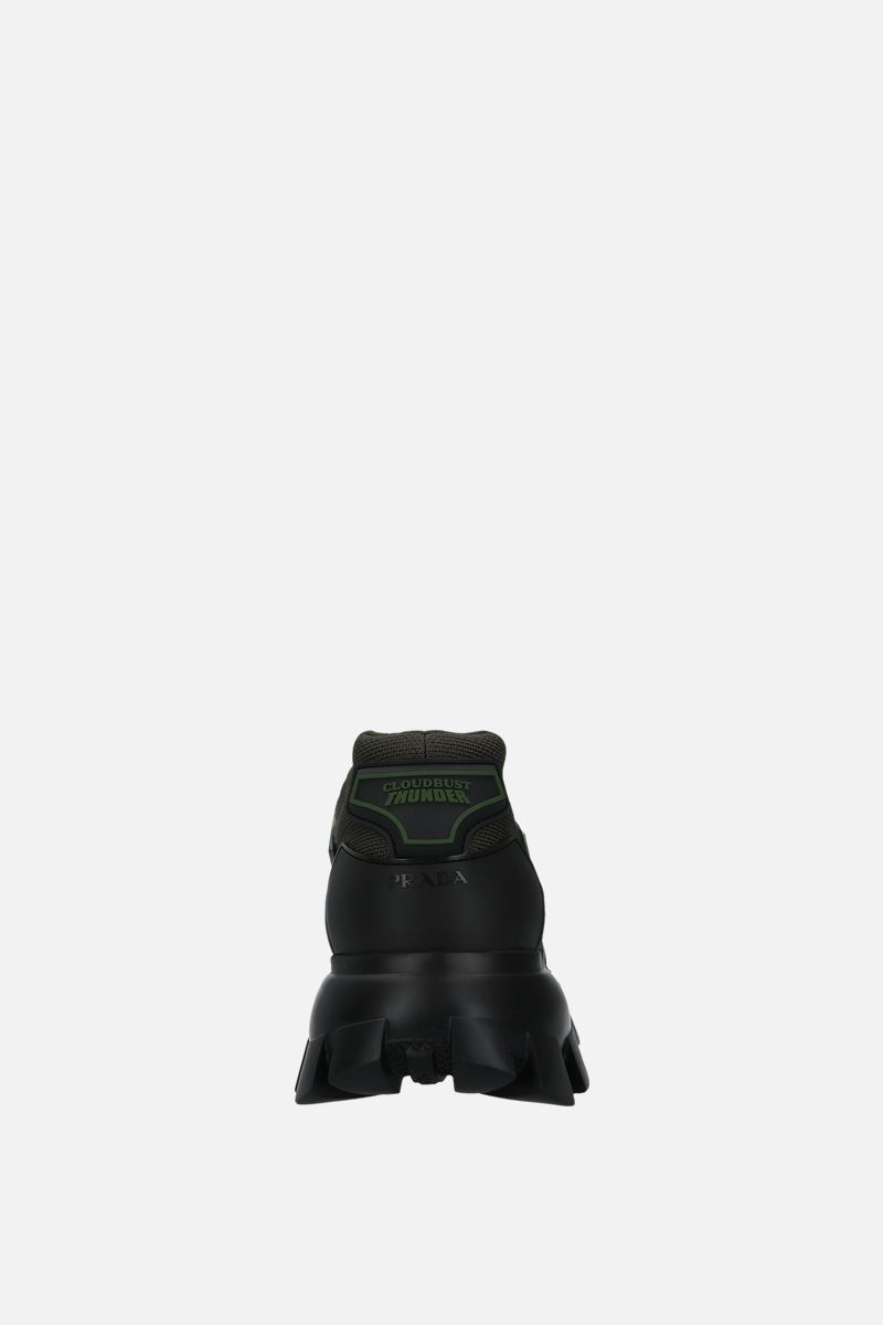 PRADA: Cloudbust Thunder sneakers in tech fabric and rubber Color Green_4