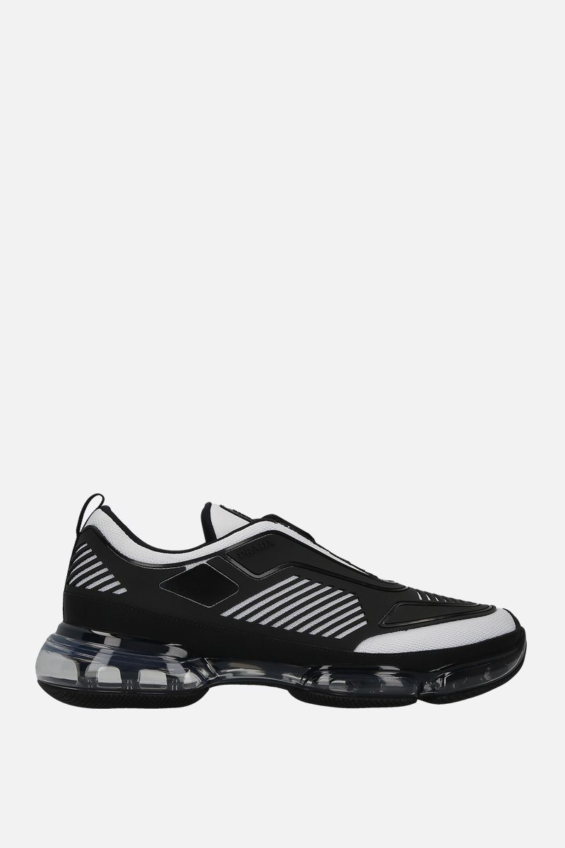 PRADA: Cloudbust sneakers in mesh and rubber Color White_1