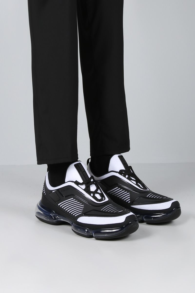PRADA: Cloudbust sneakers in mesh and rubber Color White_2