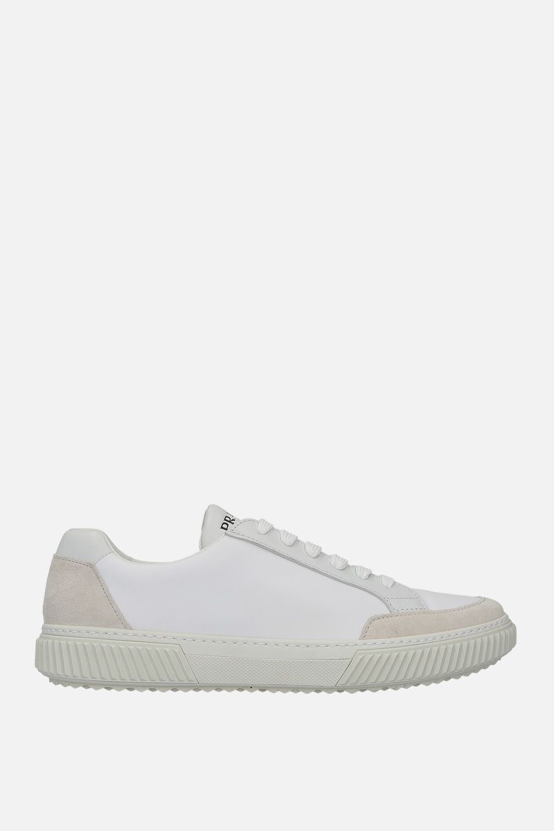 PRADA: sneaker low-top in nylon e suede Colore Neutro_1