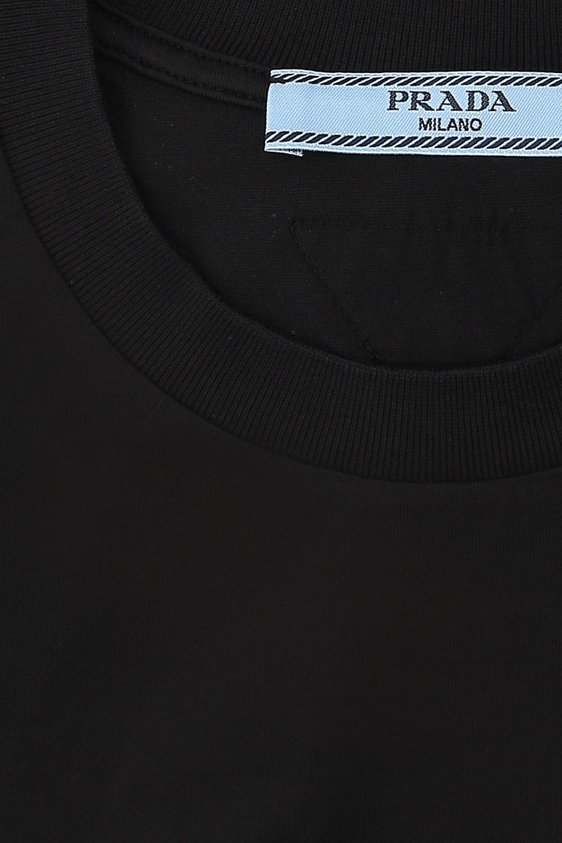 PRADA: 3 t-shirt pack in cotton jersey Color Black_4
