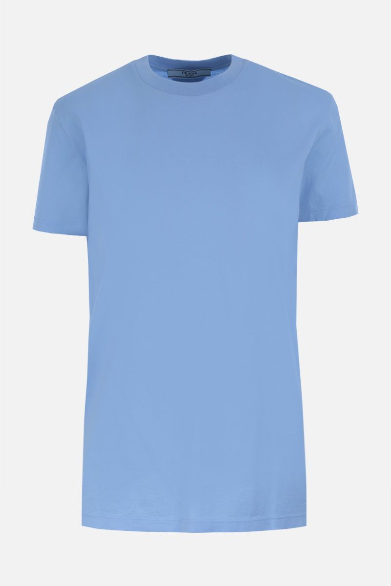 PRADA: 3 t-shirt pack in cotton jersey Color Blue_2