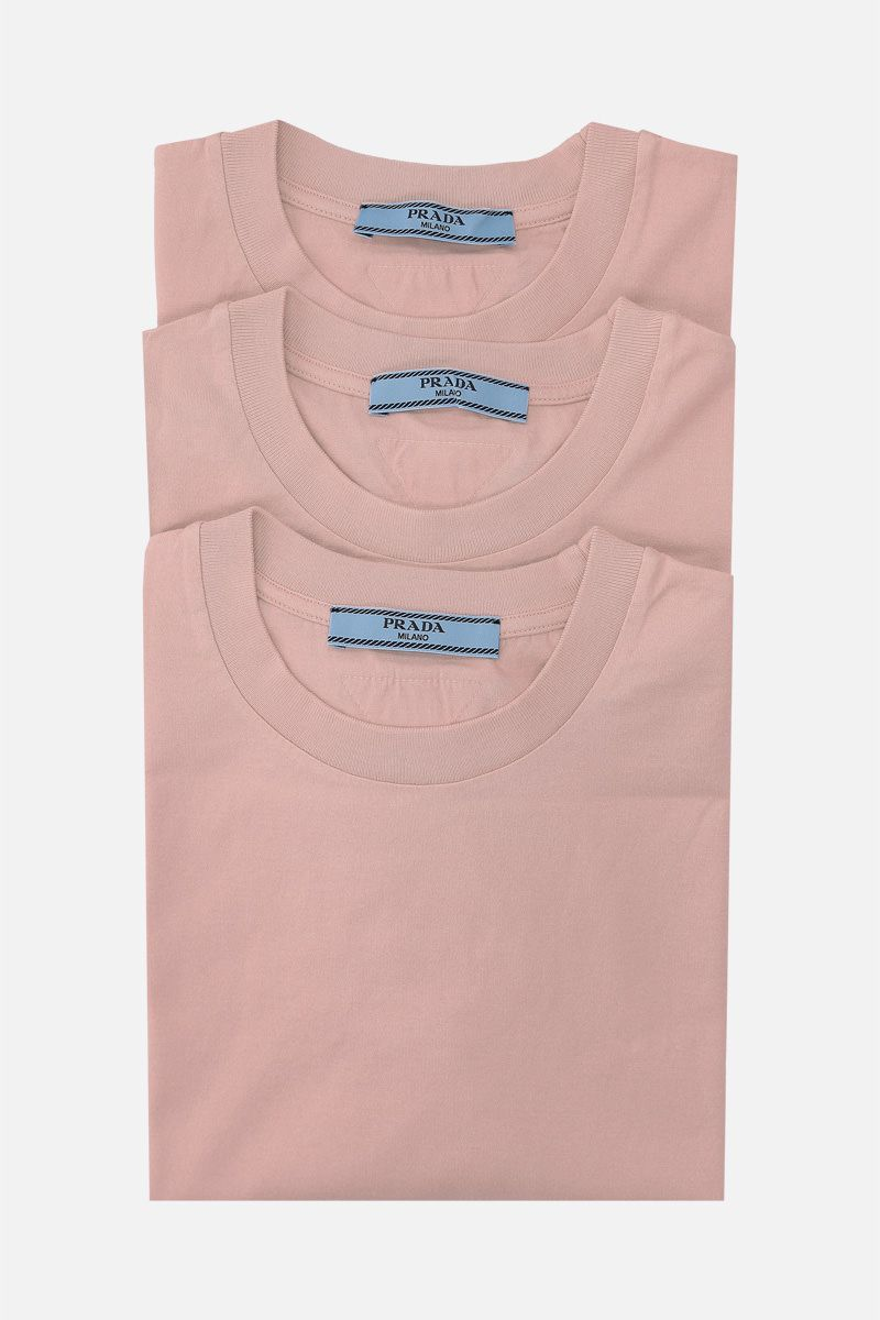 PRADA: 3 t-shirt pack in cotton jersey Color Pink_1