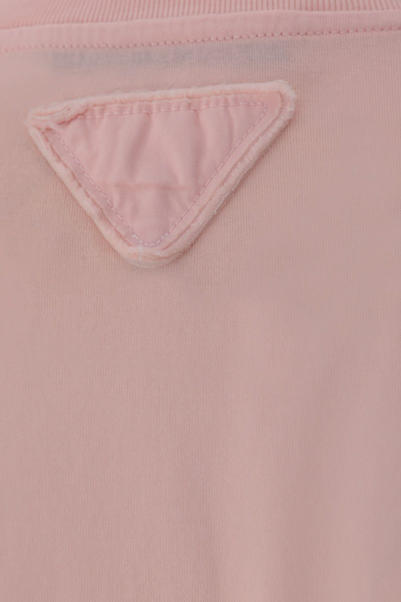 PRADA: 3 t-shirt pack in cotton jersey Color Pink_5