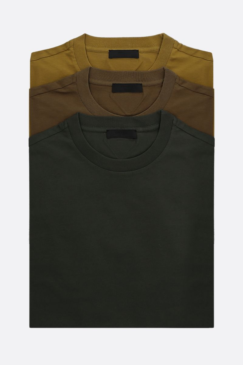 PRADA: pack 3 t-shirt in jersey di cotone_1
