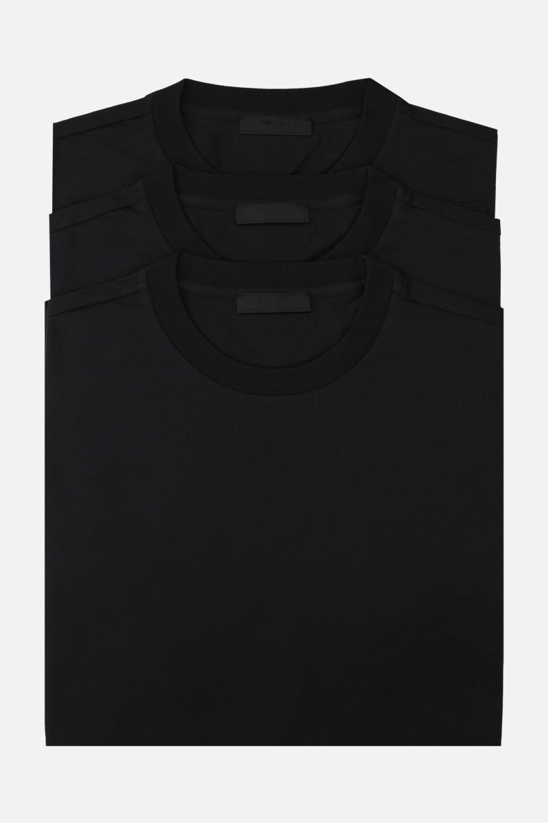 PRADA: 3 pack t-shirt in cotton jersey Color Black_1