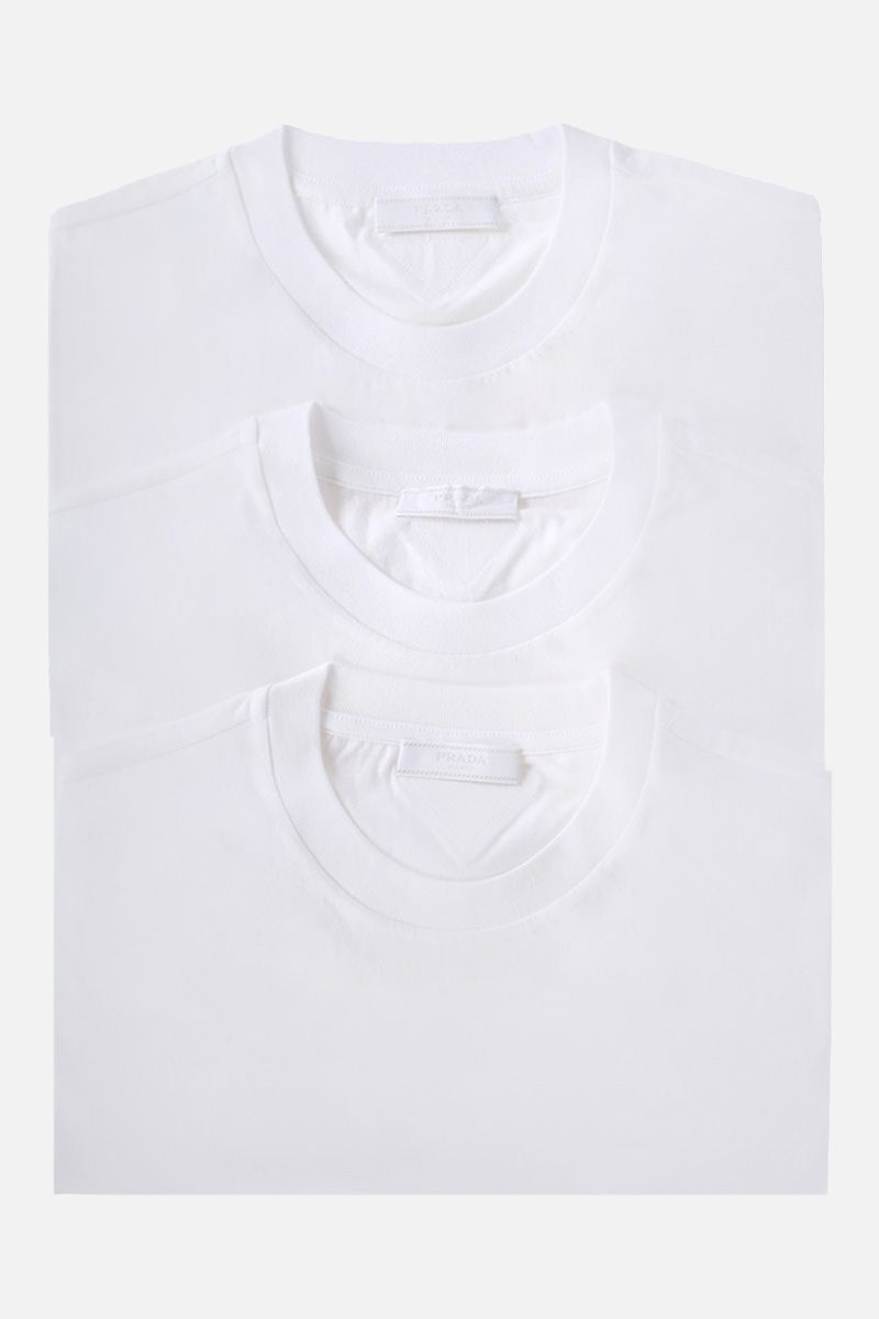 PRADA: 3-pack t-shirt in cotton jersey Color White_1