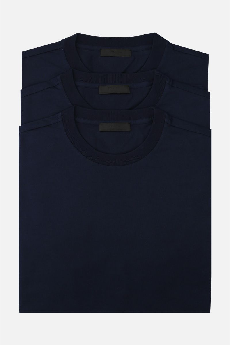 PRADA: 3-pack t-shirt in cotton jersey Color Blue_1