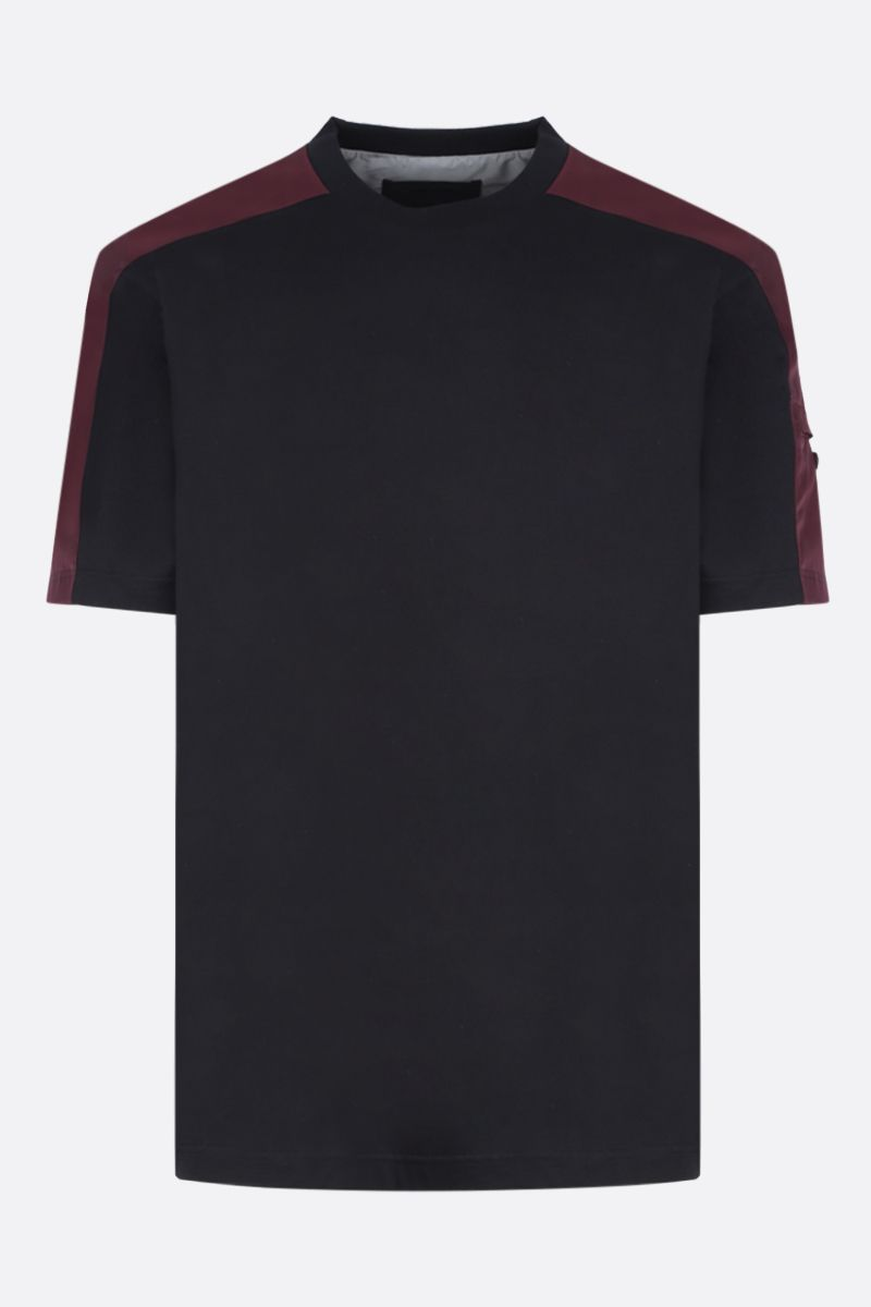 PRADA: jersey t-shirt with nylon inserts_1
