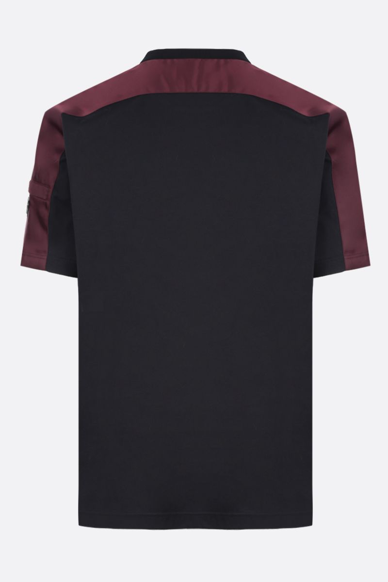 PRADA: jersey t-shirt with nylon inserts_2