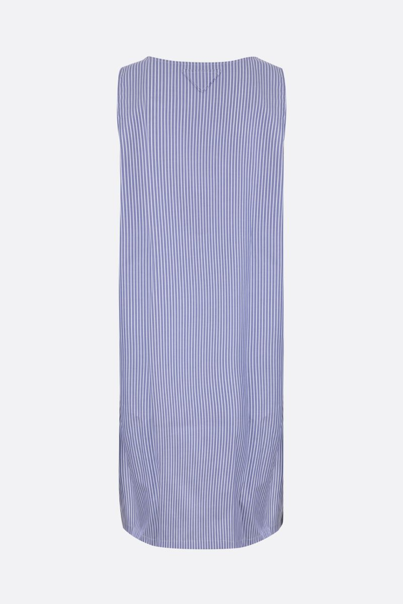 PRADA: striped cotton long-fit tank top Color Blue_2