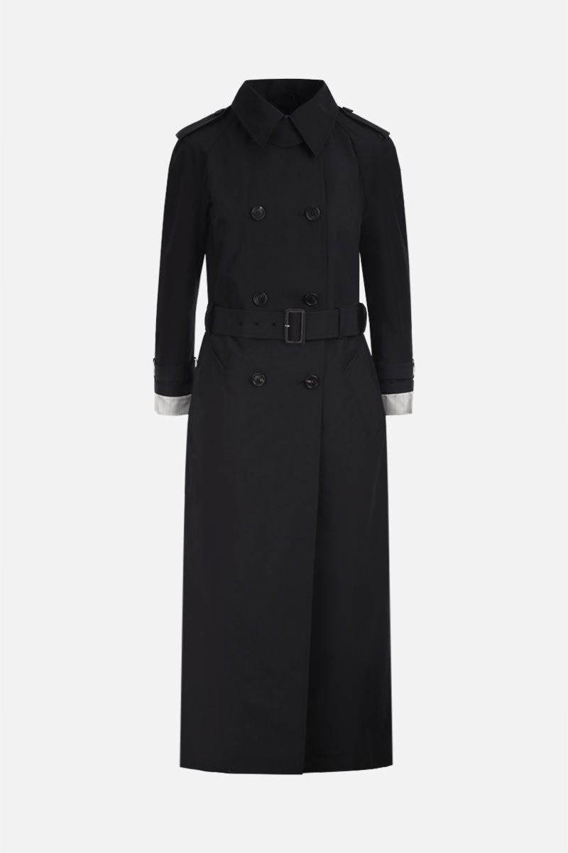 PRADA: technical cotton double-breasted trench coat Color Black_1
