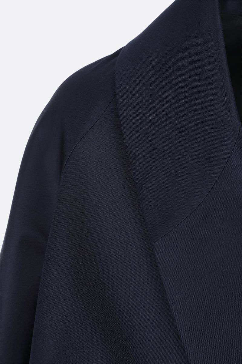 PRADA: silk faille overcoat Color Blue_4