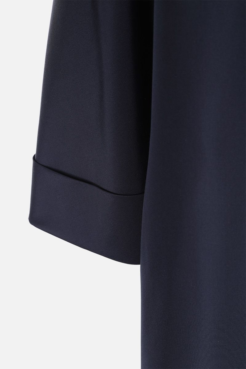 PRADA: silk faille overcoat Color Blue_5