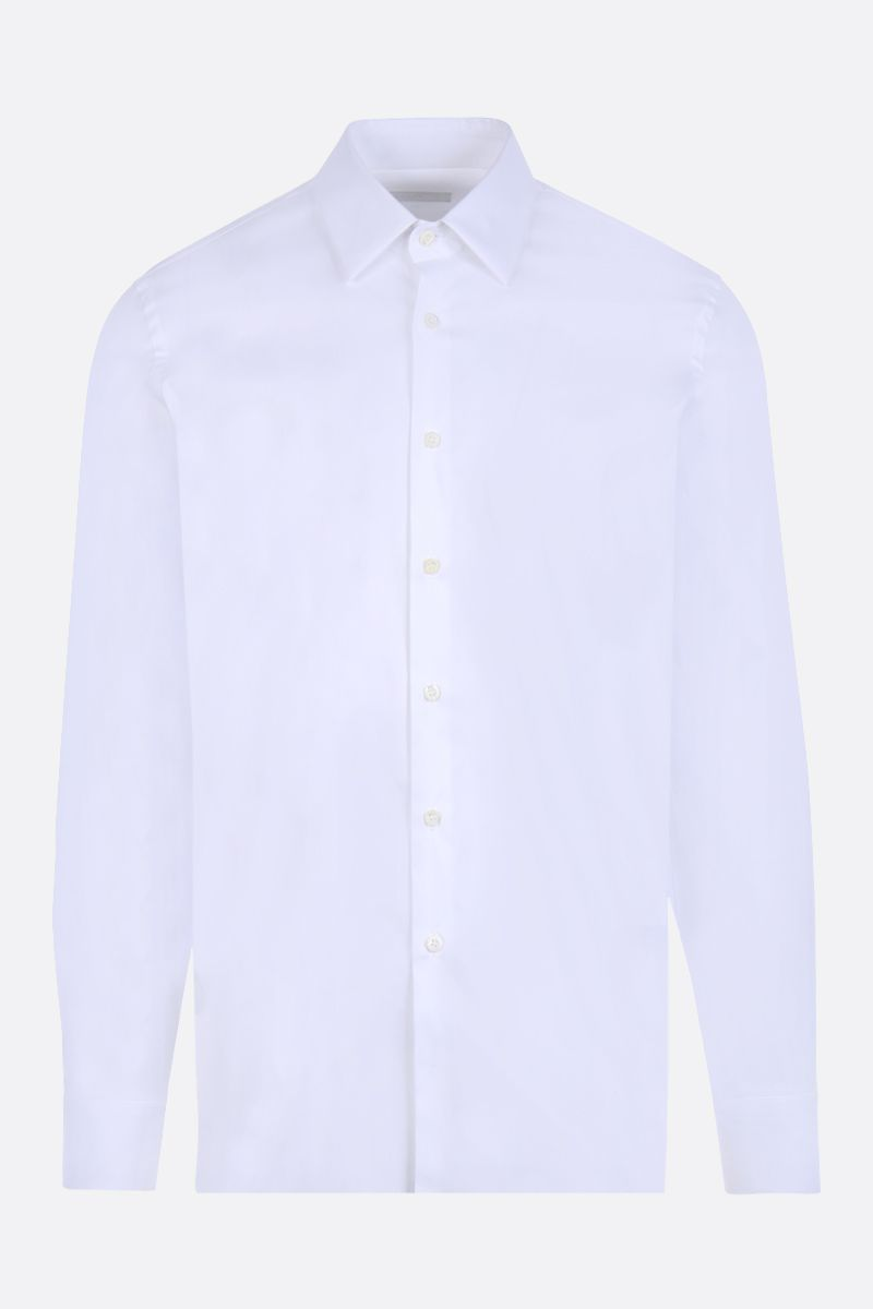 PRADA: stretch poplin slim-fit shirt Color White_1
