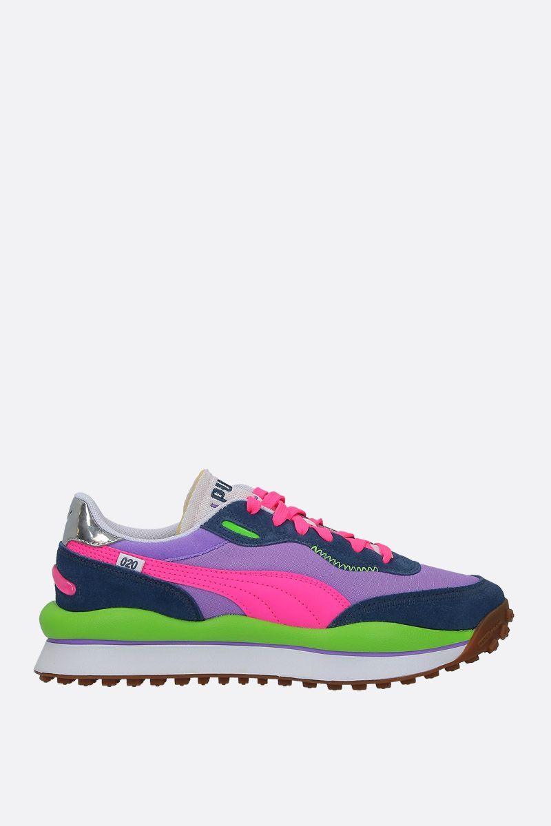 PUMA: Rider Play On technical fabric sneakers Color Multicolor_1
