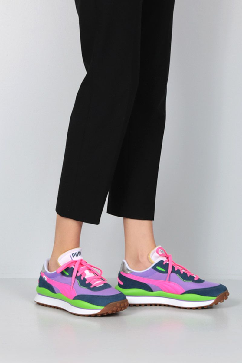 PUMA: Rider Play On technical fabric sneakers Color Multicolor_2