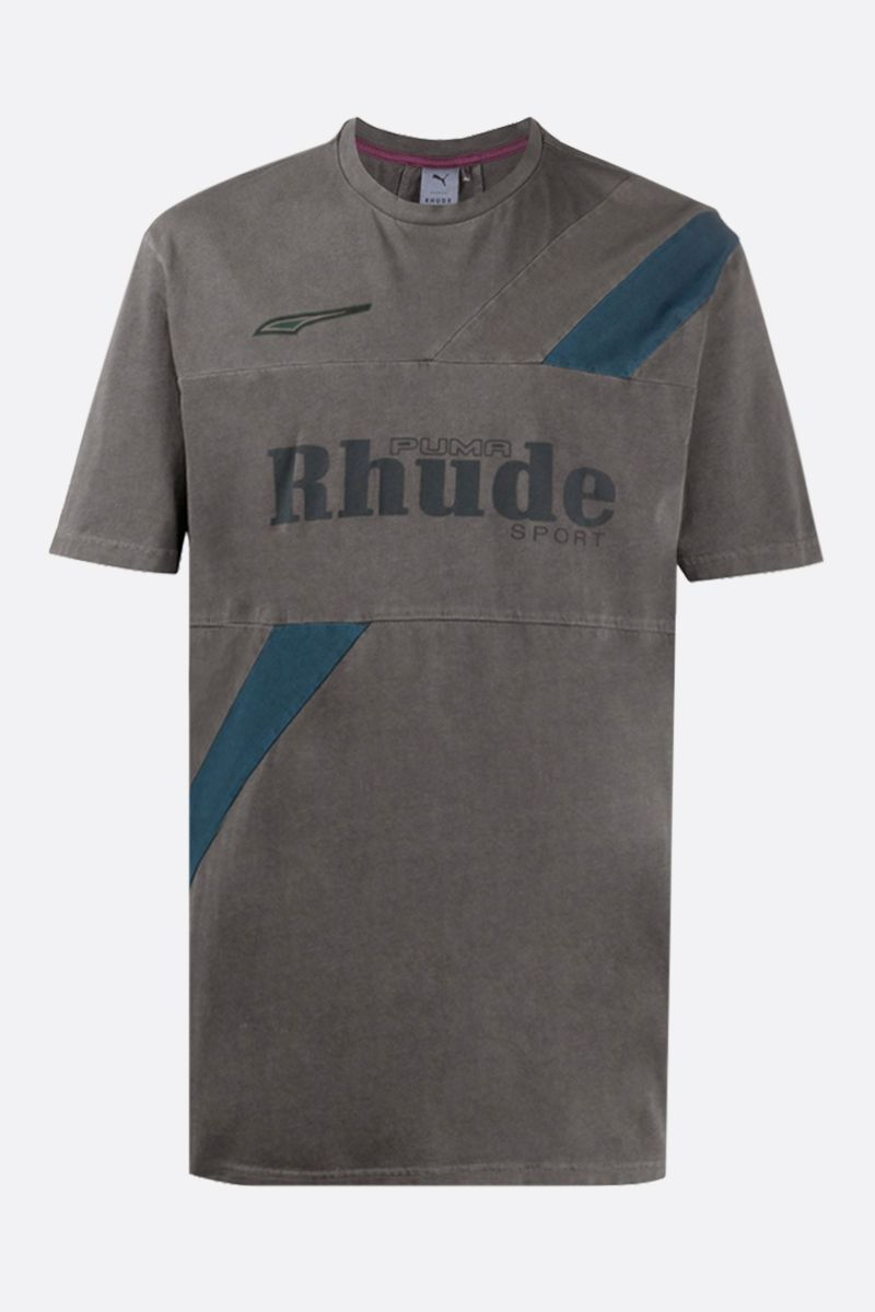 PUMA X RHUDE: Puma X Rhude stretch cotton t-shirt Color Green_1