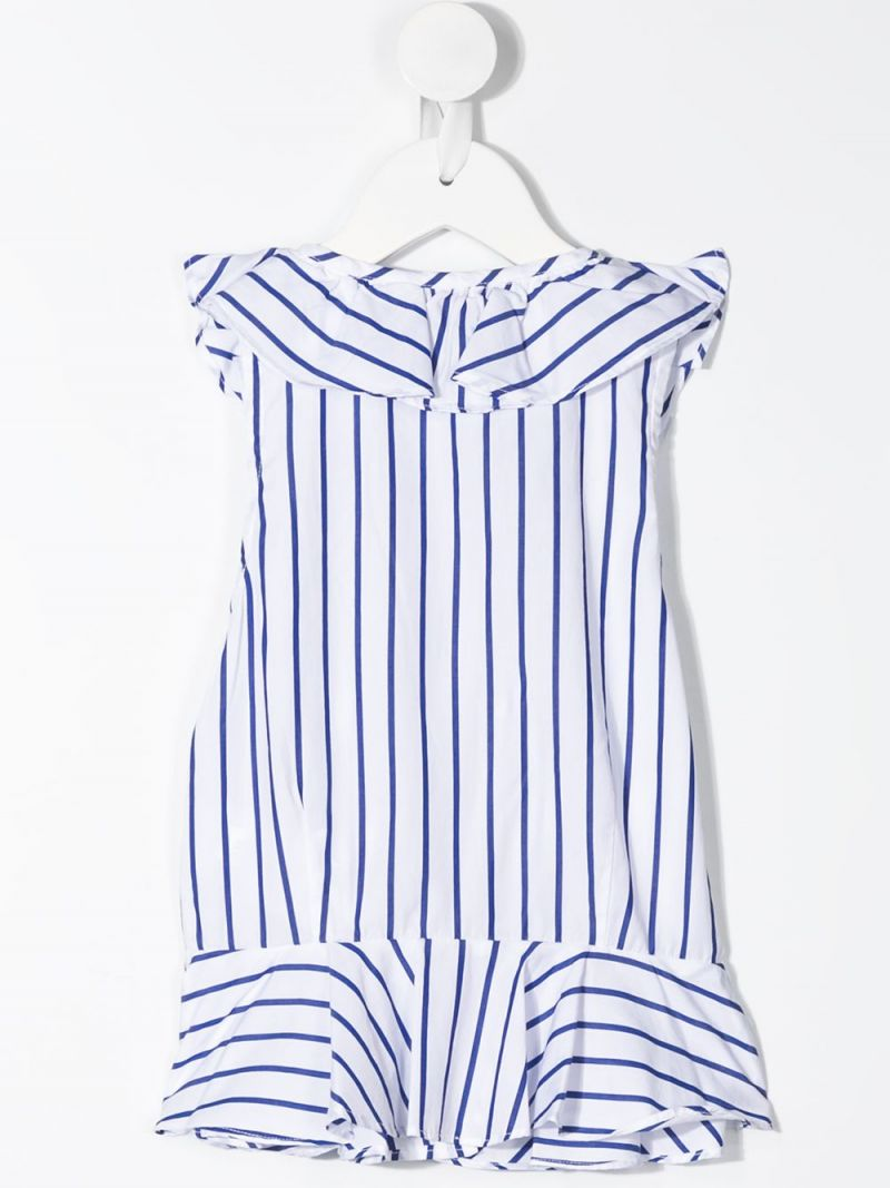 RALPH LAUREN KIDS: striped cotton sleeveless top Color Blue_2