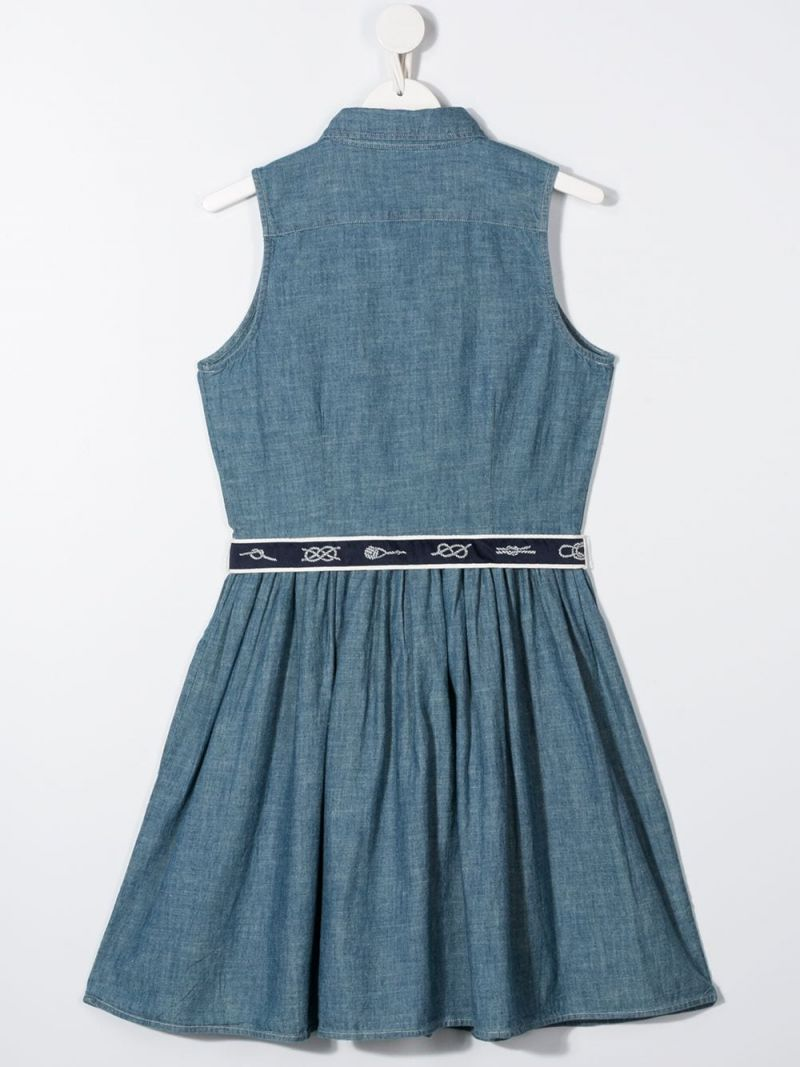 RALPH LAUREN KIDS: chambray shirt dress Color Blue_2