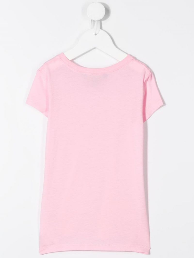 RALPH LAUREN KIDS: Polo cotton t-shirt Color Pink_2