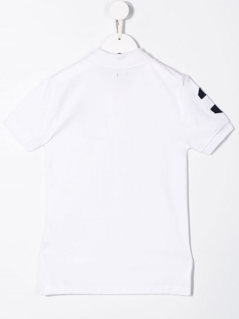 RALPH LAUREN KIDS: cotton piquet polo shirt Color White_2