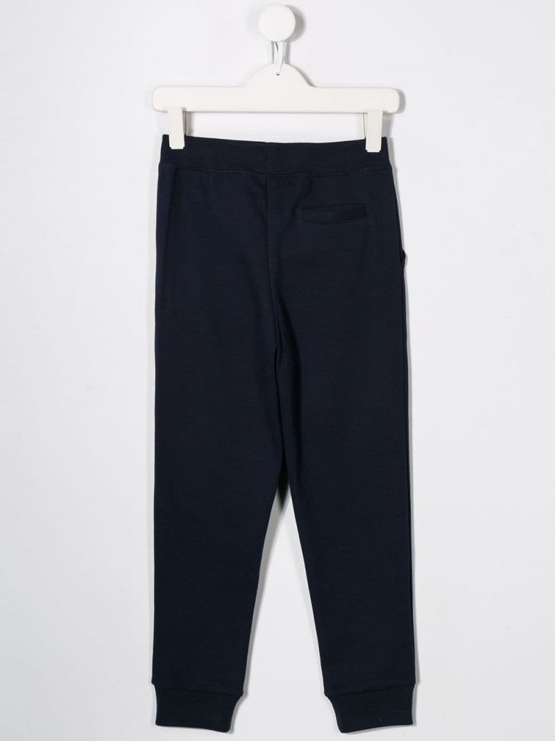 RALPH LAUREN KIDS: Pony embroidered jersey joggers Color Blue_2