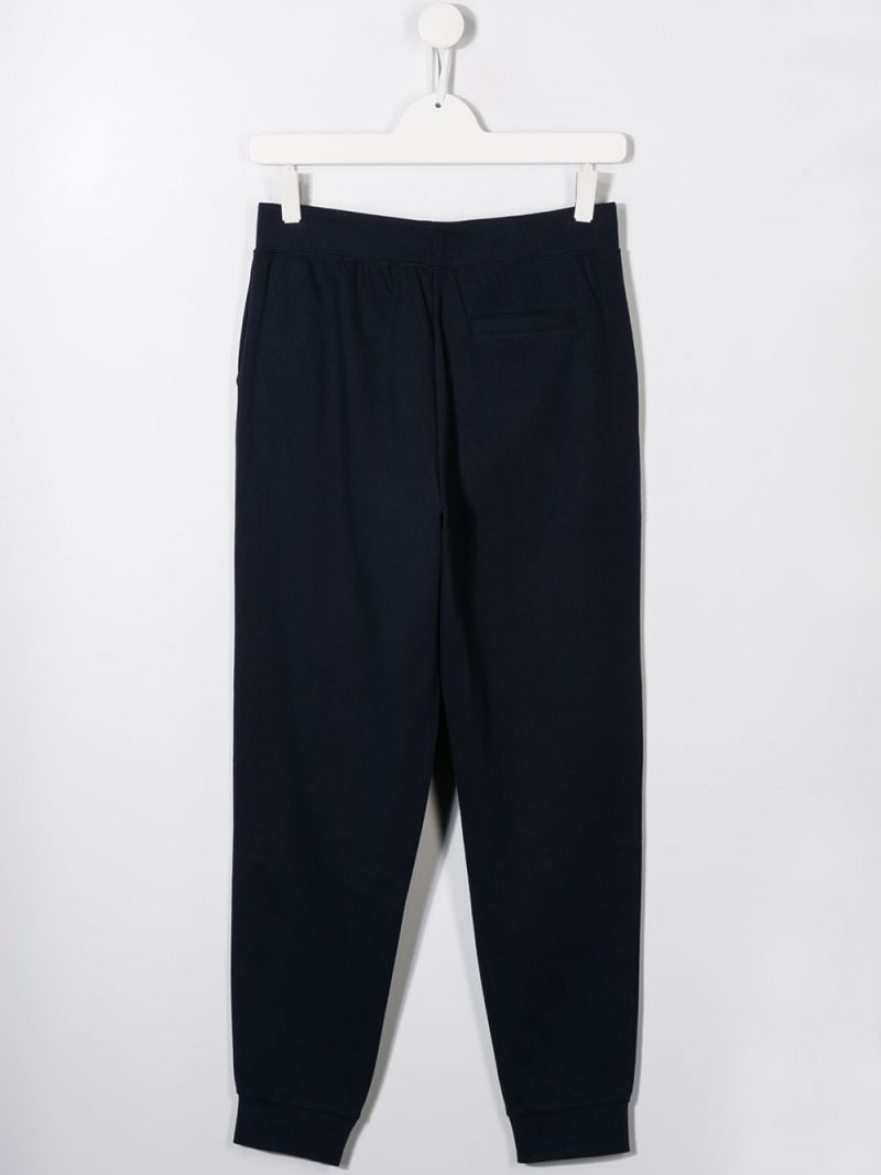 RALPH LAUREN KIDS: pantalone jogging in jersey ricamo Pony Colore Blu_2