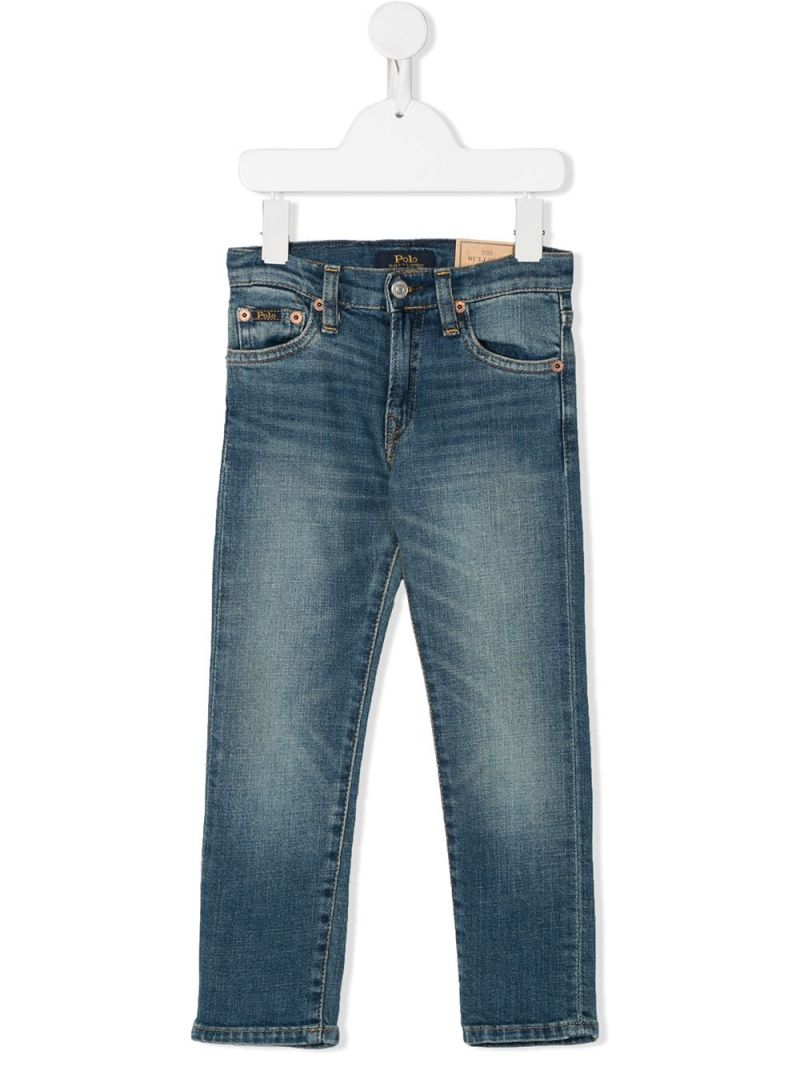 RALPH LAUREN KIDS: jeans straight-fit Colore Blu_1