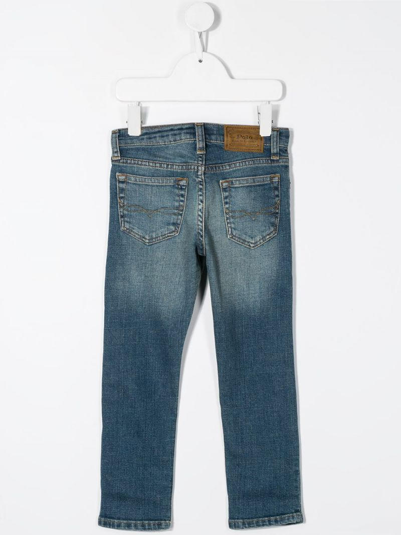 RALPH LAUREN KIDS: jeans straight-fit Colore Blu_2