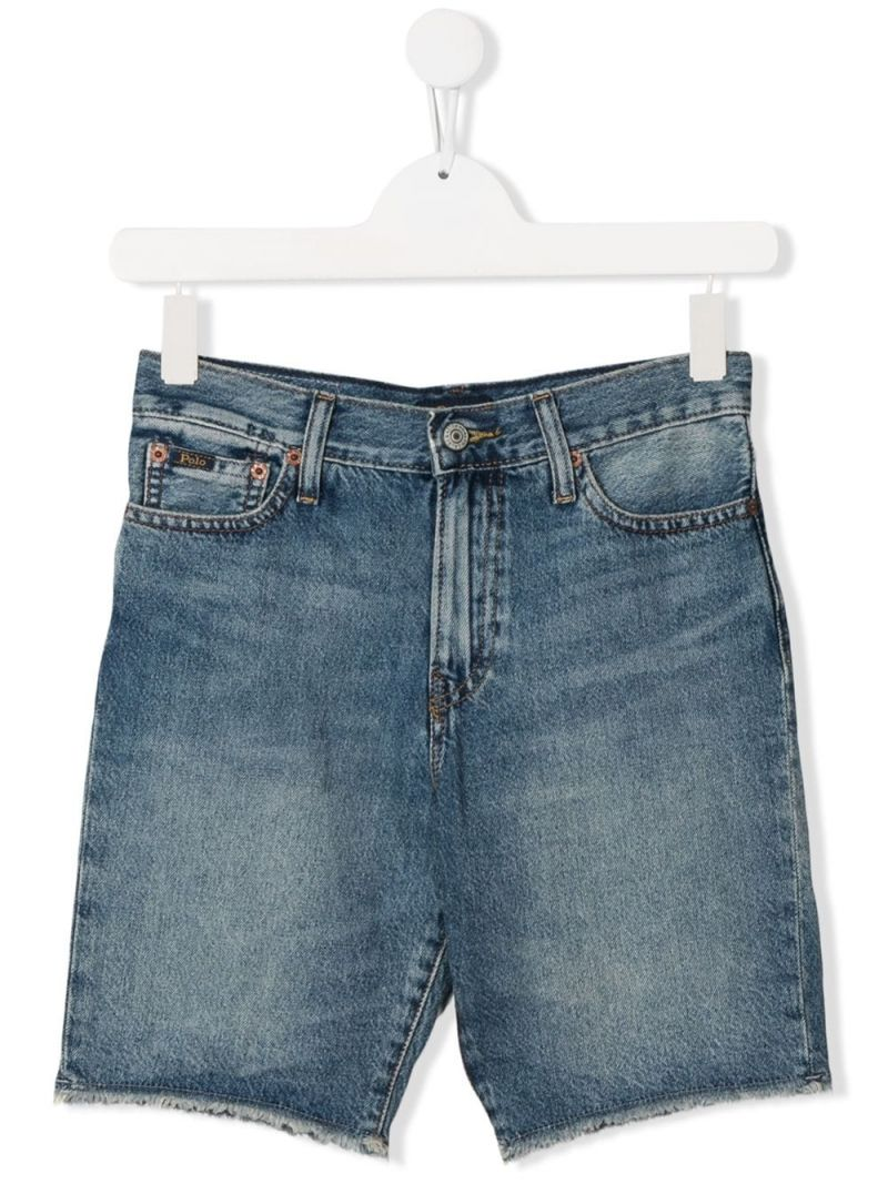 RALPH LAUREN KIDS: denim shorts Color Blue_1