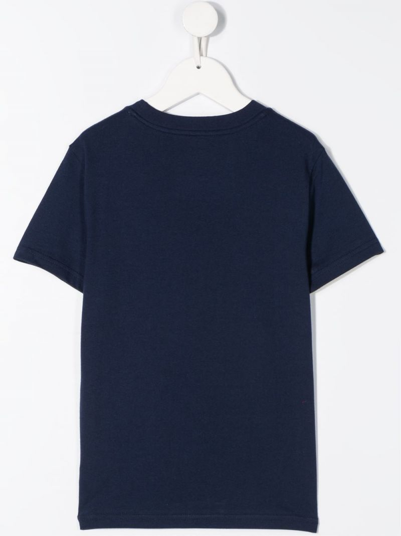 RALPH LAUREN KIDS: Polo print cotton t-shirt Color Blue_2