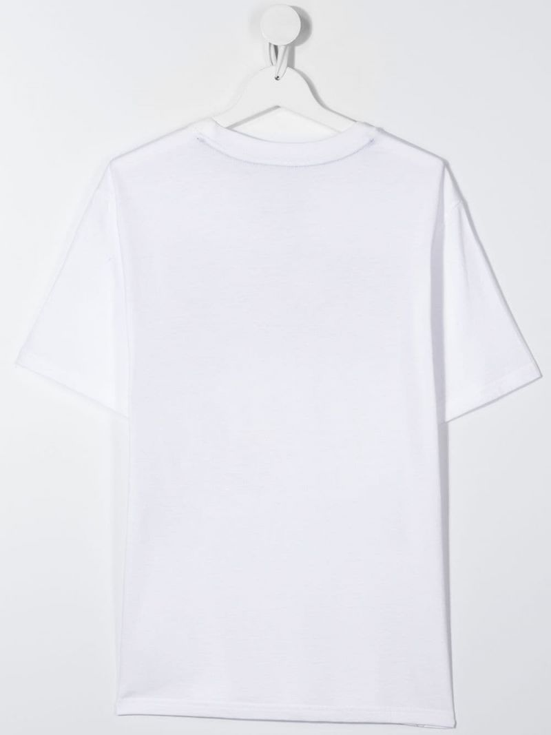 RALPH LAUREN KIDS: Polo print cotton t-shirt Color White_2