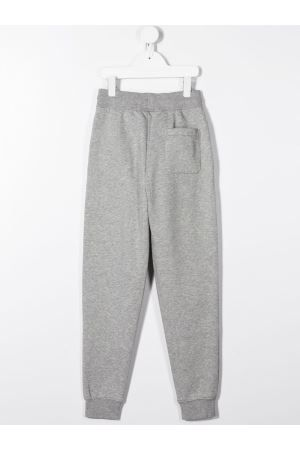 RALPH LAUREN KIDS: Polo Sport print cotton blend joggers Color Grey_2