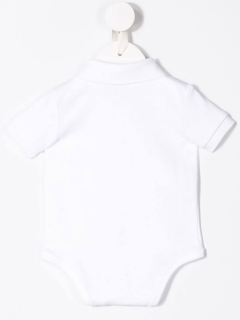 RALPH LAUREN KIDS: Pony embroidered cotton babygrow Color White_2