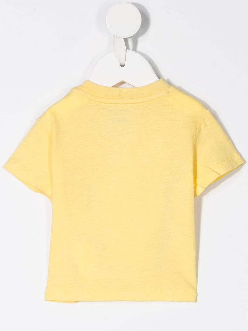 RALPH LAUREN KIDS: Preppy Bear print cotton t-shirt Color Yellow_2