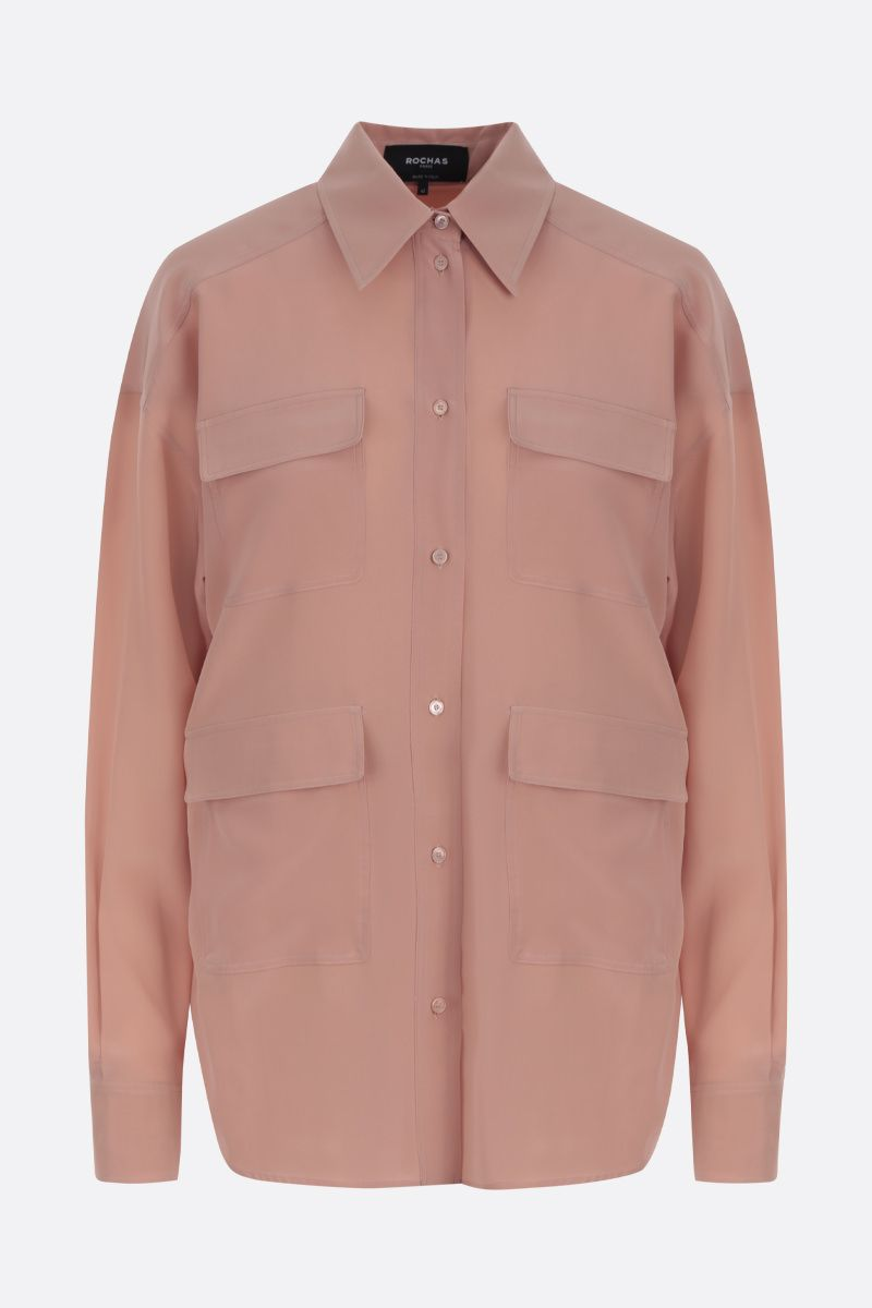ROCHAS: crepe de chine shirt Color Pink_1