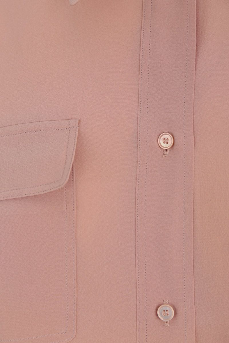 ROCHAS: crepe de chine shirt Color Pink_4