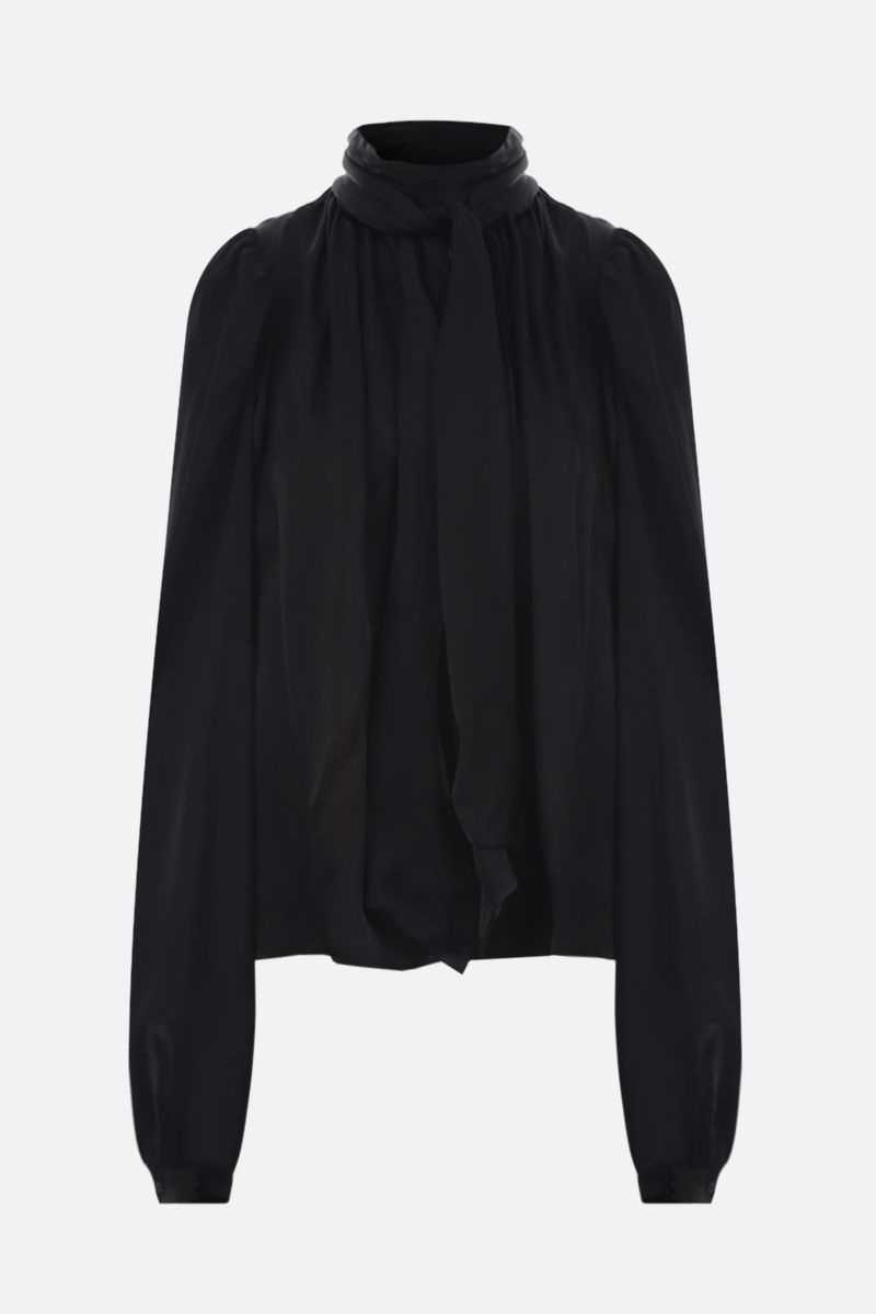 ROCHAS: cut-out detailed satin blouse Color Black_1