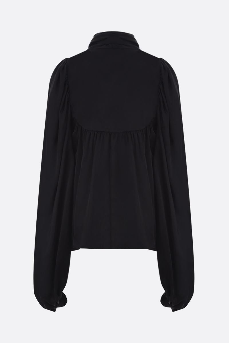 ROCHAS: cut-out detailed satin blouse Color Black_2