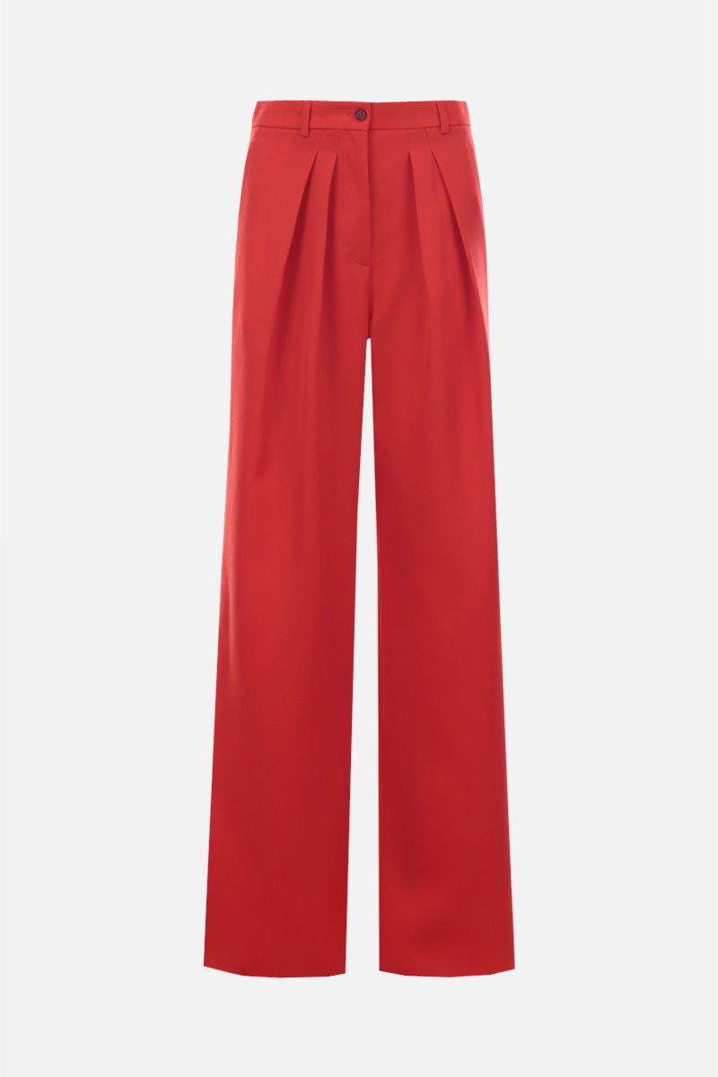 ROCHAS: wool wide-leg pants Color Red_1