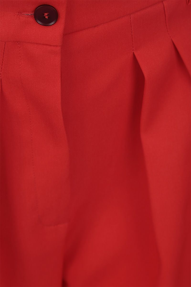 ROCHAS: wool wide-leg pants Color Red_3